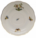 "Herend Rothschild Bird Tea Saucer - Motif 07 6""D"