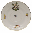 "Herend Rothschild Bird Tea Saucer - Motif 08 6""D"