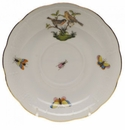 "Herend Rothschild Bird Tea Saucer - Motif 09 6""D"