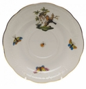 "Herend Rothschild Bird Tea Saucer - Motif 10 6""D"