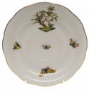 "Herend Rothschild Bird Tea Saucer - Motif 11 6""D"