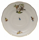 "Herend Rothschild Bird Tea Saucer - Motif 12 6""D"