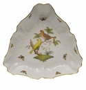 "Herend Rothschild Bird Triangle Dish  9.5""L"
