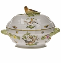 "Herend Rothschild Bird Tureen With Bird  (2 Qt) 9.5""H"