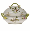"Herend Rothschild Bird Tureen With Branch  (4 Qt) 10""H"