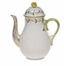Herend Rothschild Garden Coffee Pot With Rose (36 Oz) 8.5""