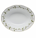 "Herend Rothschild Garden Oval Vegetable Dish 10""L X 8""W"