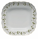 "Herend Rothschild Garden Square Fruit Dish 11""Sq"
