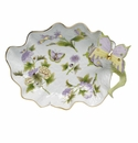 Herend Royal Garden Large Leaf Dish With Butterfly 10