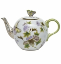 Herend Royal Garden Tea Pot With Butterfly (36 Oz)