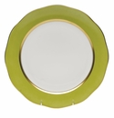 """Herend Silk Ribbon Charger 12""""D - Olive"""