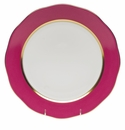 """Herend Silk Ribbon Charger 12""""D - Raspberry"""
