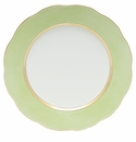 """Herend Silk Ribbon Service Plate 11""""D - Lime"""