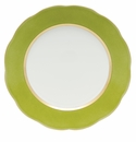 """Herend Silk Ribbon Service Plate 11""""D - Olive"""