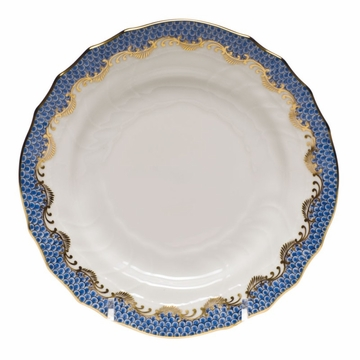 Herend White With Blue Border Bread & Butter Plate 6''D
