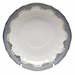 "Herend White With Blue Border Canton Saucer 5.5""D"