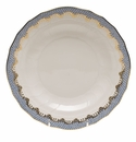 "Herend White With Blue Border Dessert Plate 8.25""D"
