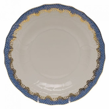 Herend White With Blue Border Dessert Plate 8.25''D