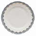 """Herend White With Blue Border Dinner Plate 10.5""""D"""