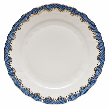 Herend White With Blue Border Dinner Plate 10.5''D