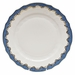 "Herend White With Blue Border Dinner Plate 10.5""D"