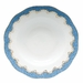 "Herend White With Blue Border Rim Soup Plate 8""D"