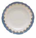 "Herend White With Blue Border Salad Plate 7.5""D"