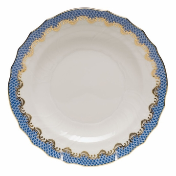 Herend White With Blue Border Salad Plate 7.5''D