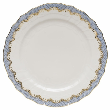 Herend White With Blue Border Service Plate 11''D