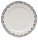 "Herend White With Blue Border Service Plate 11""D"