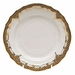 """Herend White With Brown Border Bread & Butter Plate 6""""D"""