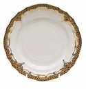"Herend White With Brown Border Bread & Butter Plate 6""D"