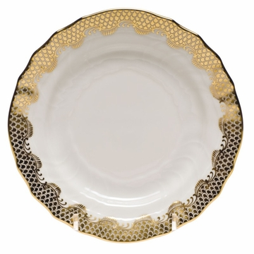 Herend White With Gold Border Bread & Butter Plate 6''D