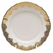 """Herend White With Gold Border Bread & Butter Plate 6""""D"""