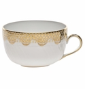 Herend White With Gold Border Canton Cup (6 Oz)