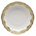 """Herend White With Gold Border Canton Saucer 5.5""""D"""