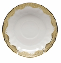 "Herend White With Gold Border Canton Saucer 5.5""D"