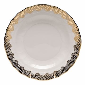 Herend White With Gold Border Dessert Plate 8.25''D