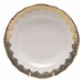 "Herend White With Gold Border Dessert Plate 8.25""D"