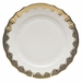"""Herend White With Gold Border Dinner Plate 10.5""""D"""