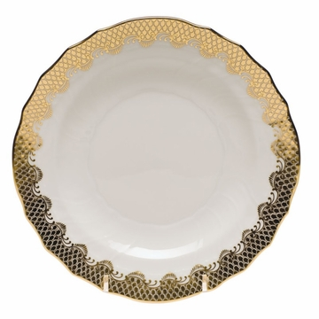 Herend White With Gold Border Salad Plate 7.5''D