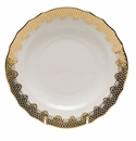 "Herend White With Gold Border Salad Plate 7.5""D"