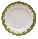 "Herend White With Green Border Bread & Butter Plate 6""D - Evergreen"