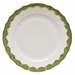 "Herend White With Green Border Dinner Plate 10.5""D - Evergreen"
