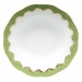 """Herend White With Green Border Rim Soup Plate 8""""D - Evergreen"""