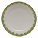 """Herend White With Green Border Service Plate 11""""D - Evergreen"""
