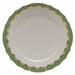 "Herend White With Green Border Service Plate 11""D - Jade"