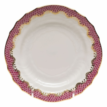 Herend White With Pink Border Bread & Butter Plate 6''D
