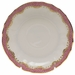 "Herend White With Pink Border Canton Saucer 5.5""D"
