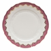 """Herend White With Pink Border Dinner Plate 10.5""""D"""